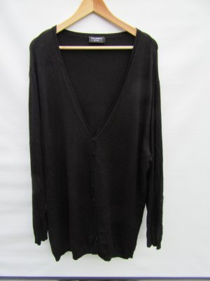 Vintage Long Knitted Vest black