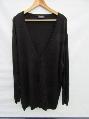 Vintage Lang gebreid vest zwart