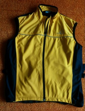 Sportvest geel-zwart Polyester