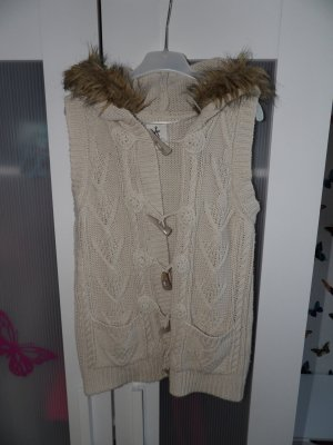 Primark Coarse Knitted Jacket cream-beige