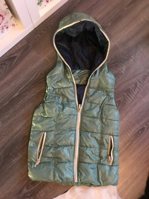 Only Quilted Gilet turquoise-dark blue