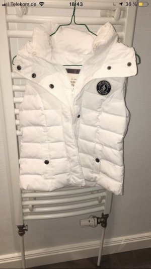 Abercrombie & Fitch Donsvest wit