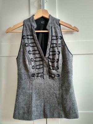 Blanco Chaleco negro-gris