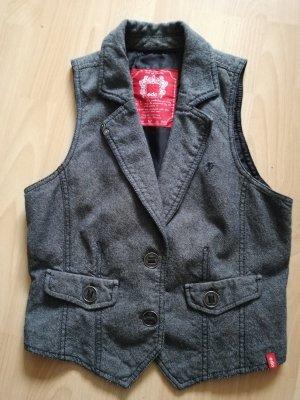 edc by Esprit Denim Vest grey cotton