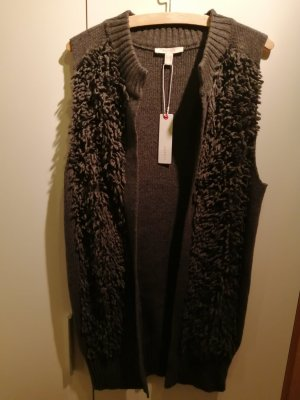 Esprit Long Knitted Vest dark grey