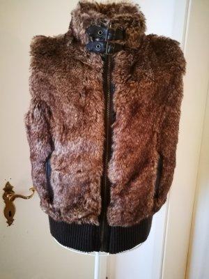 Vest multicolored fake fur