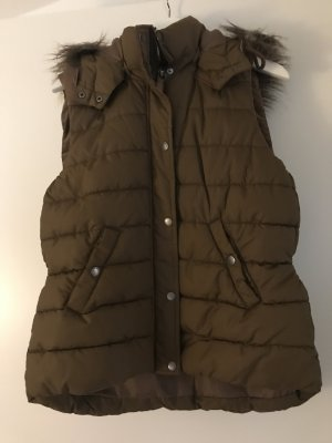 HM Capuchon vest bruin Polyamide