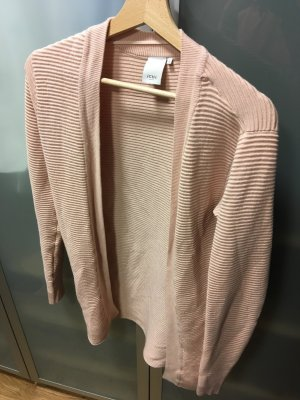 Ichi Long Knitted Vest dusky pink
