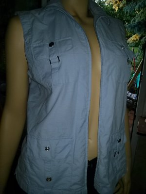 Leonardo Denim Vest azure mixture fibre