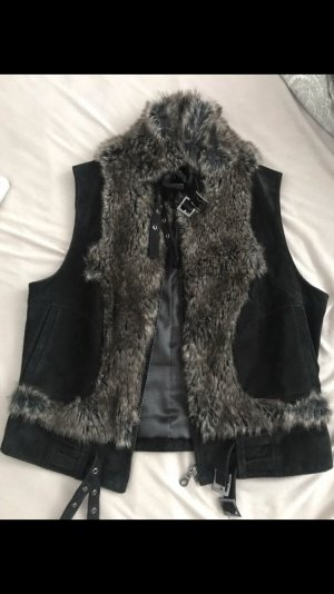 Maille Demoiselle Leather Vest black