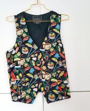 Nicole Miller Gilet de costume multicolore soie