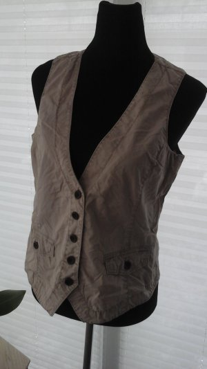 Opus Gilet en jean beige coton