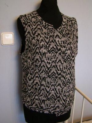Taifun Tweed blazer wit-zwart Katoen