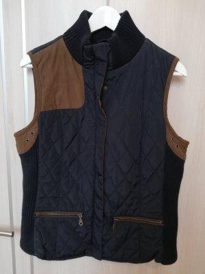 Zara Basic Vest bruin-donkerblauw