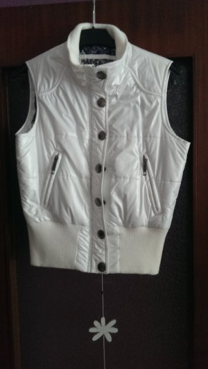 Quilted Gilet white