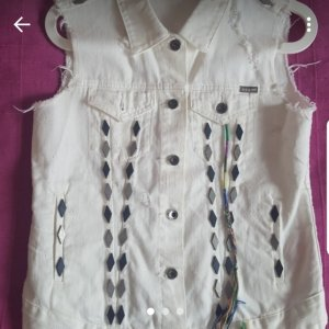 Tkmaxx Denim Vest multicolored