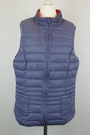 Quilted Gilet steel blue-red