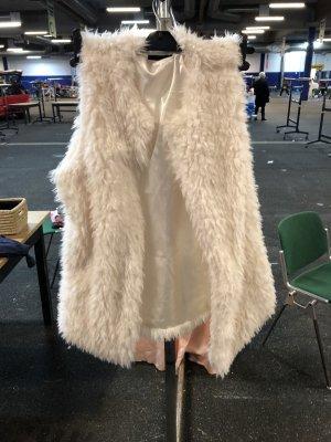 Smanicato di pelliccia crema-bianco sporco
