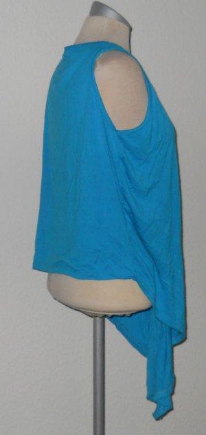 Weste Zipfel Cardigan ärmellos türkis blau Gr. M 38 40