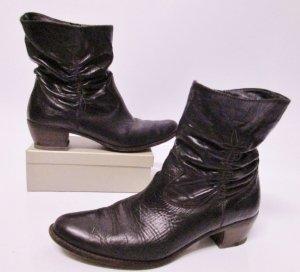 Western Boots Stiefel Paul Green Größe 40 Patina Echt Leder 6,5 Dunkelbraun Braun Slouch Schaft