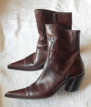 SMH Booties brown-cognac-coloured