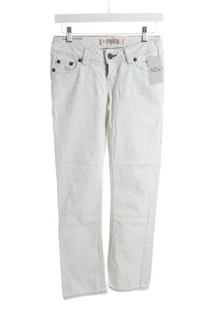 Western Glove Works Jeans coupe-droite blanc style décontracté