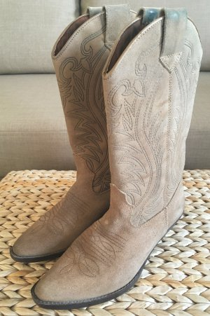 Western Stiefel Blue River 38 Cowboy Boots Wildleder Echtleder Beige