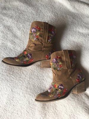Western Booties beige-light brown