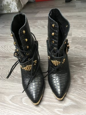 H&M Western Booties black-gold-colored