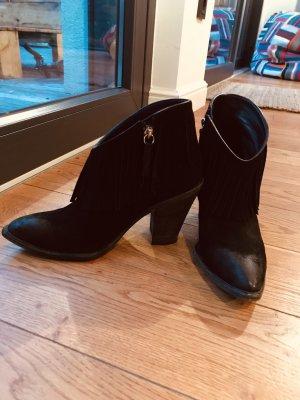 Giuseppe Zanotti Western Booties black