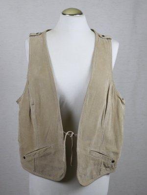 Cecil Chaleco de cuero beige-marrón arena Cuero