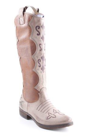 Boots western motif de fleur style campagnard
