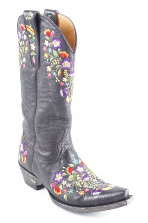 Western Boots flower pattern country style