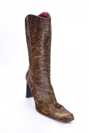 Western Boots black-dark brown flecked extravagant style