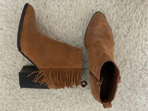 Office Western Booties brown leather