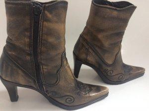 Fun&Co Western Booties grey brown-black brown