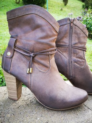 Anna Field Western Booties grey brown
