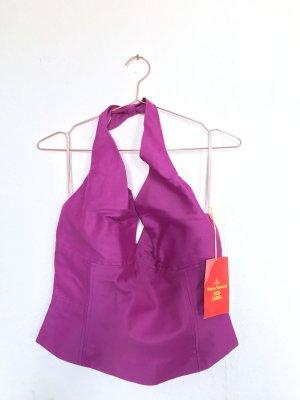 Vivienne Westwood Haut type corsage violet coton
