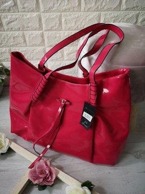 Wet Look Tasche Lack glänzend Pink NEU Abendtasche Handtasche Umhängetasche Henkeltasche Shopper