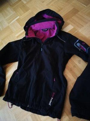 Chaqueta para exteriores negro-rosa