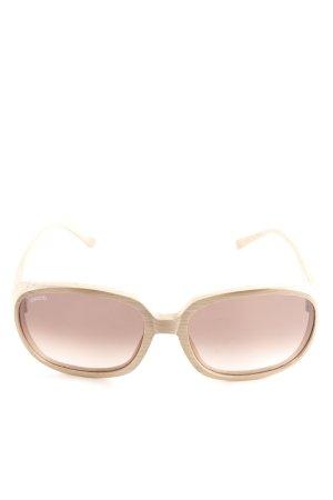 Wewood Karée Brille beige Holz-Optik