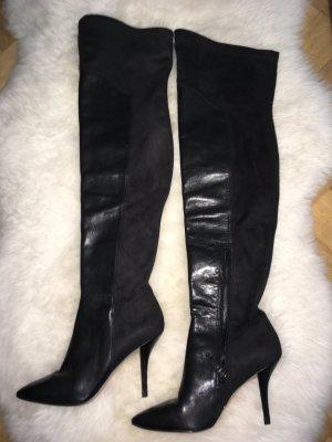 WHAT FOR komplett Leder Overknee Stiefel Größe 37
