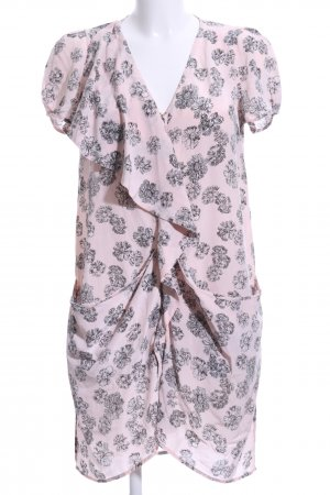 Whistles Blouse Dress dusky pink-black flower pattern casual look