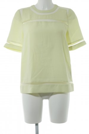 Whistles Kurzarm-Bluse limettengelb Casual-Look
