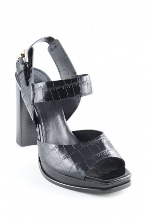 Whistles Strapped High-Heeled Sandals black leather-look