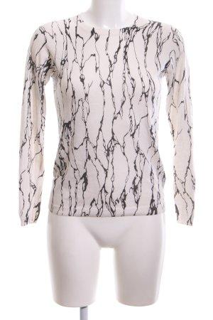 Whistles Rundhalspullover weiß-schwarz abstraktes Muster Casual-Look