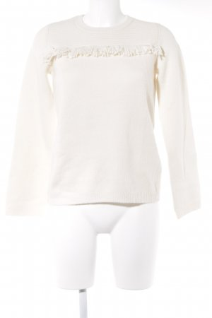Whistles Strickpullover creme Boho-Look