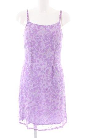 Whistles Trägerkleid lila abstraktes Muster Elegant