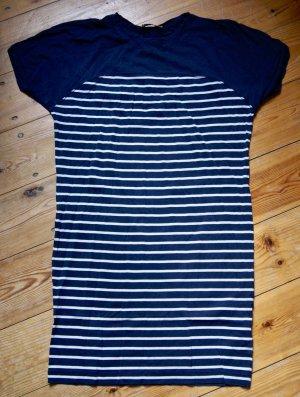 Whistles UK T-Shirt Kleid Longshirt Blau Gestreift XS 34 36