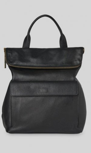 Whistles Backpack black leather